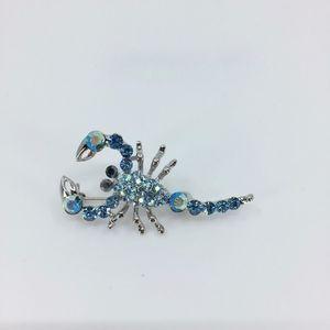 Silver Tone Scorpion Brooch